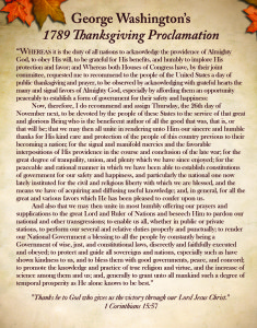 George Washington's 1789 Thanksgiving Proclamation