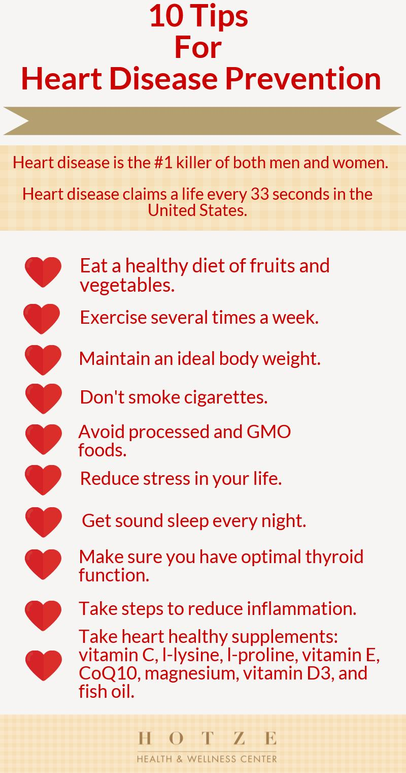10 Tips for Heart Disease Prevention