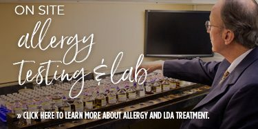 Ron Parker in Allergy Lab