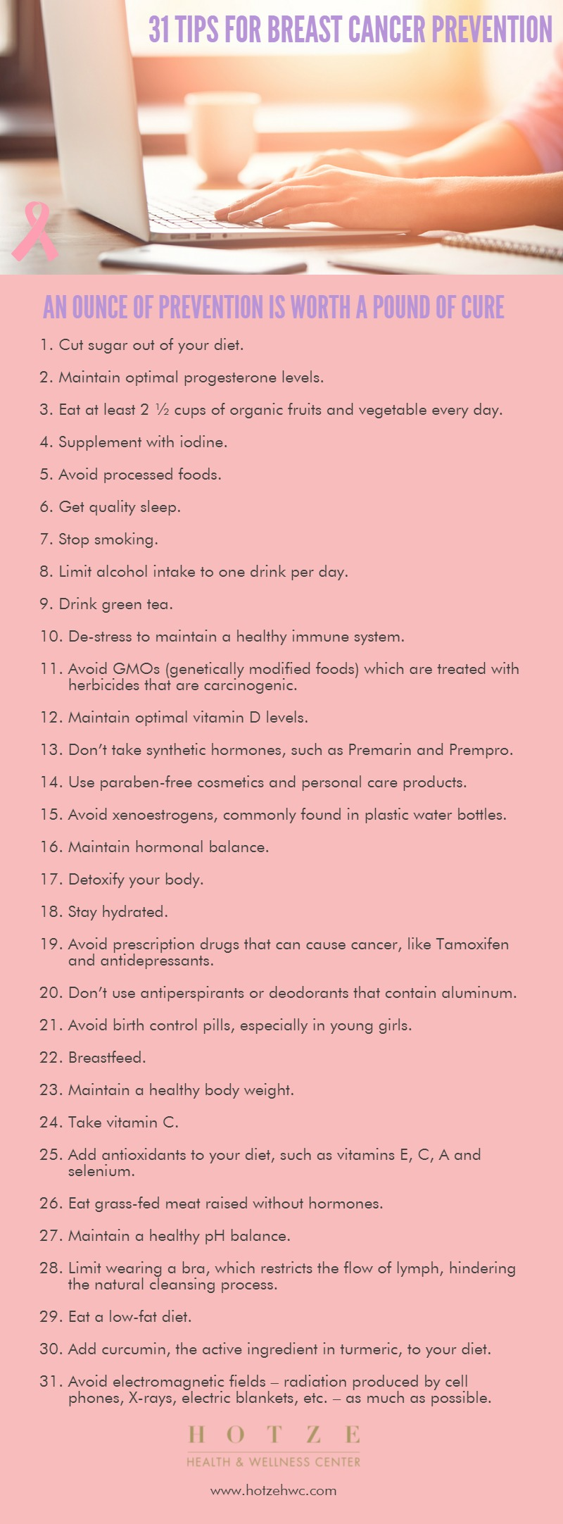31 Tips for Breast Cancer Prevention
