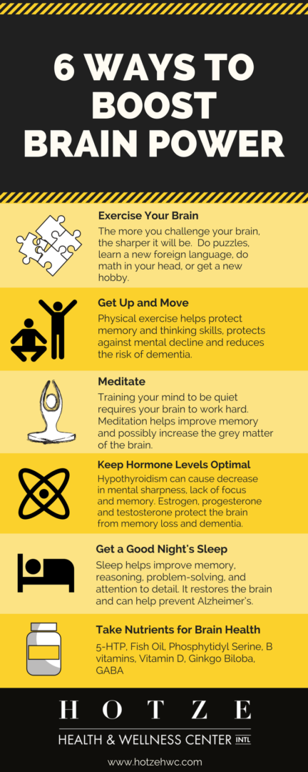 6 Ways to Boost Brain Power
