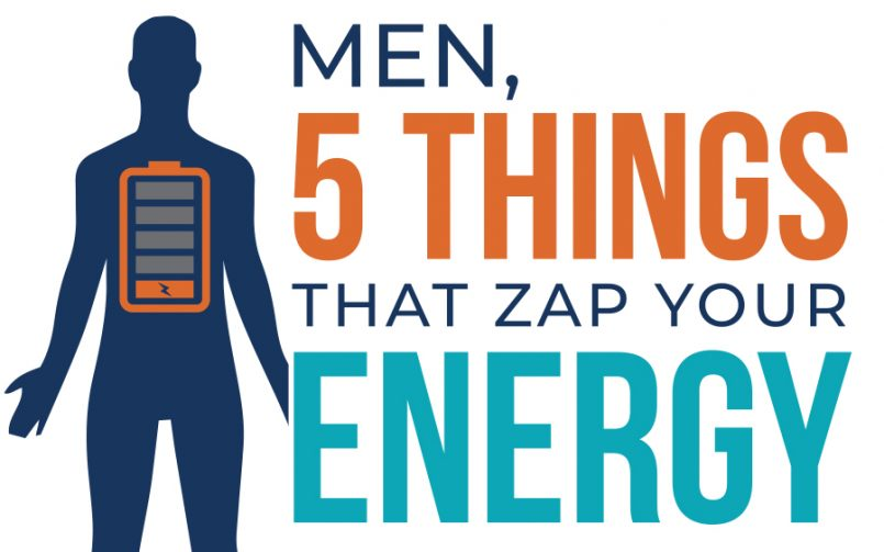 Men, 5 Things That Zap Your Energy