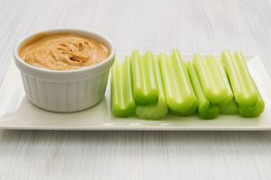 celery sticks with peanut butter