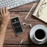 podcast on iphone at deskto